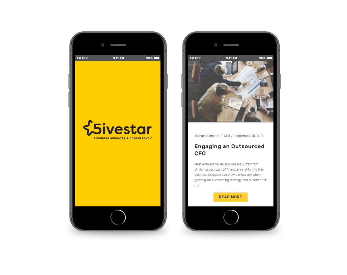 5ivestar Mobile Site