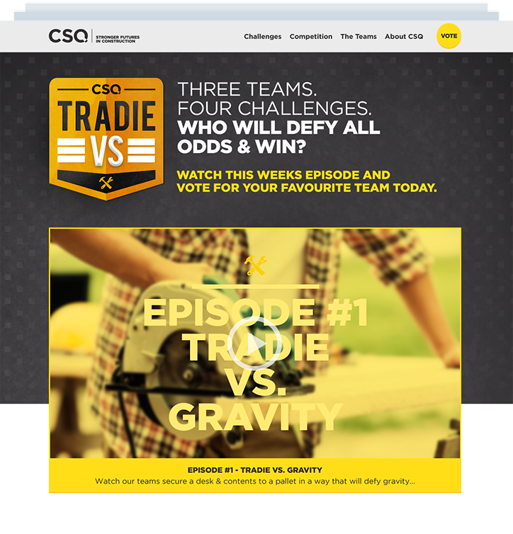 CSQ vs Tradie browser design