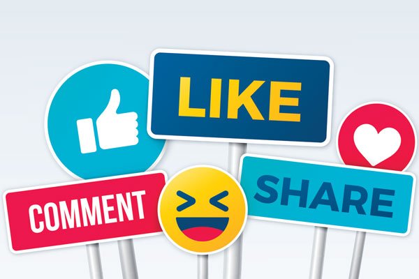 SMM - Likes, shares and comments